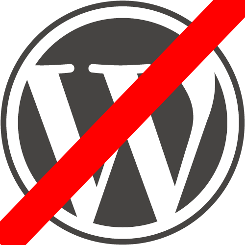 Why NO to WordPress based website?
